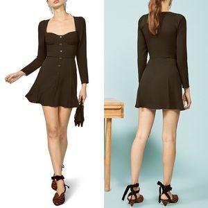 REFORMATION Milla Dress Black Fit & Flare Dress